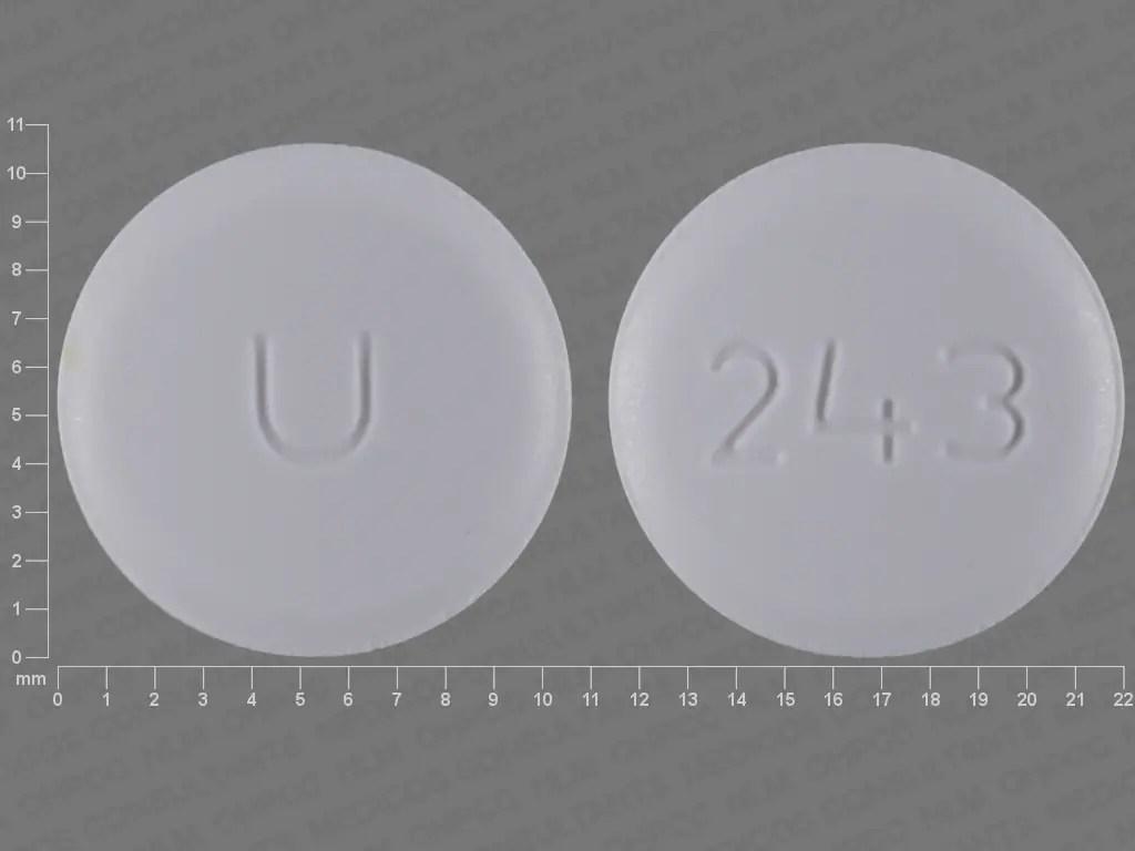 Pill Finder: U 243 White Round - Medicine.com