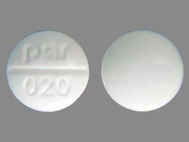 Pill Finder: par 020 White Round - Medicine.com