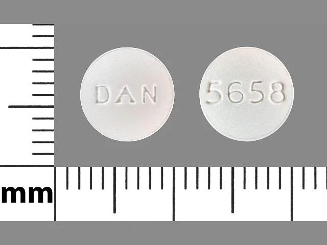 Pill Finder: DAN 5658 White Round - Medicine.com