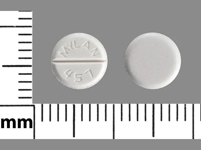 Pill Finder: MYLAN 457 White Round - Medicine.com