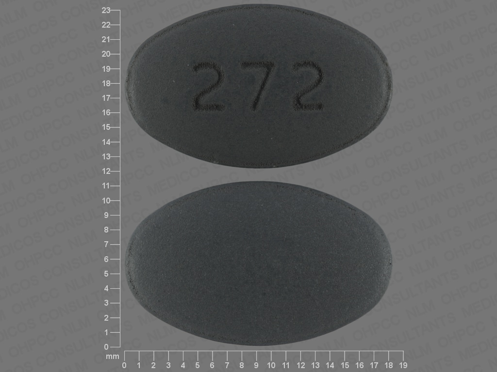 pill finder 272 gray elliptical oval