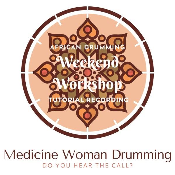 Medicine Woman Drumming Logo