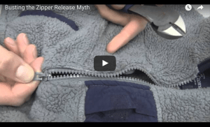 Video Zipper Release Technique