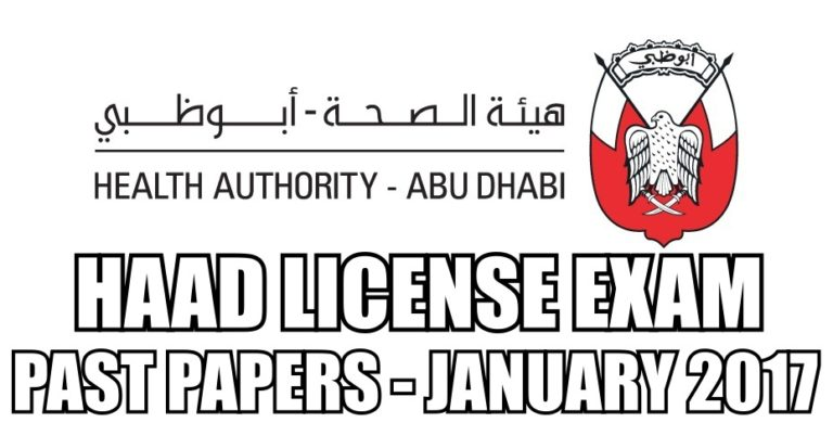 HAAD License Exam Past Paper for Medical Practitioners 2017