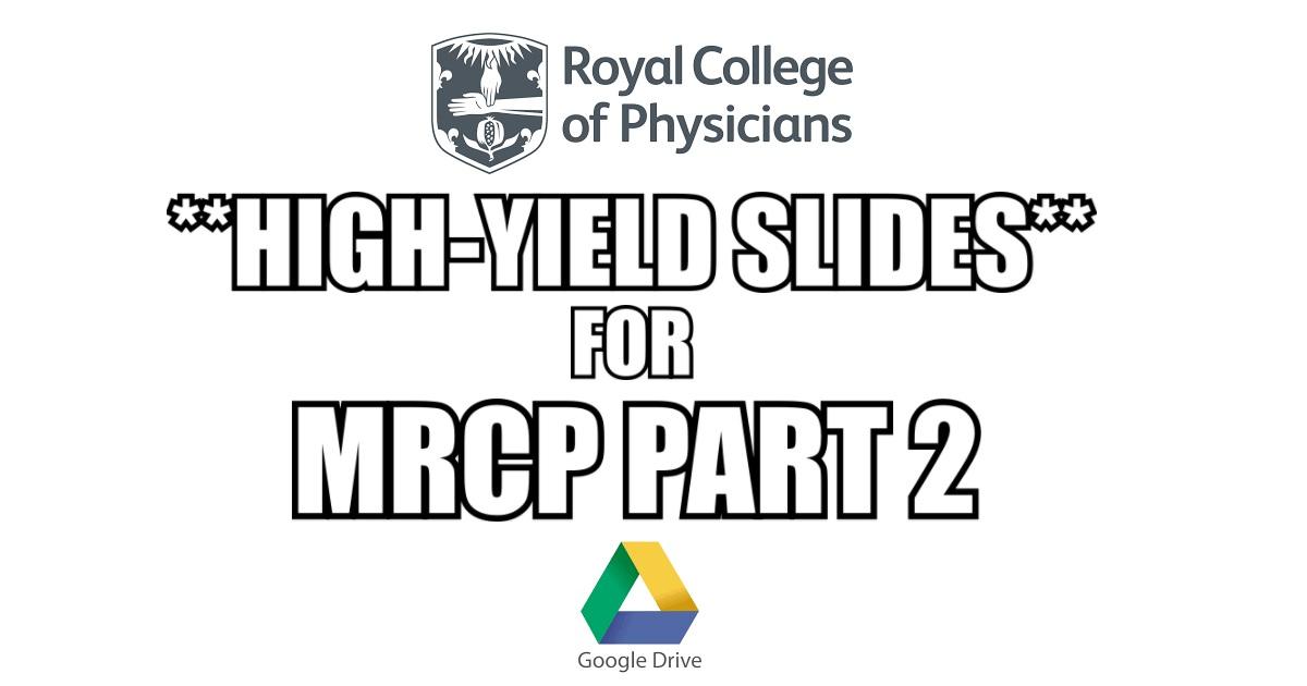 MRCP Part 2 Written Exam Slides PDF Free Download