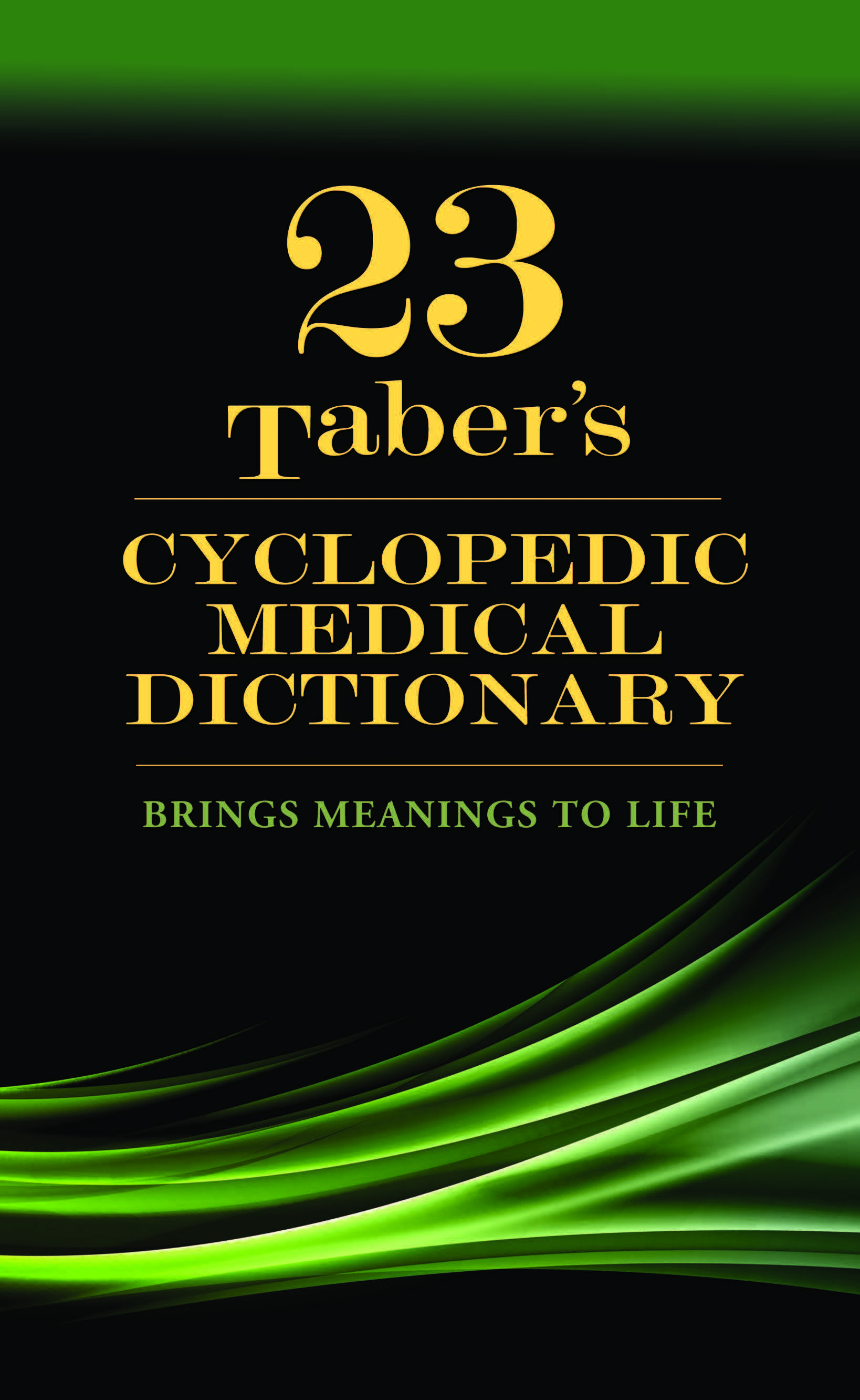 Taber's Cyclopedic Medical Dictionary 23rd Edition PDF Free Download