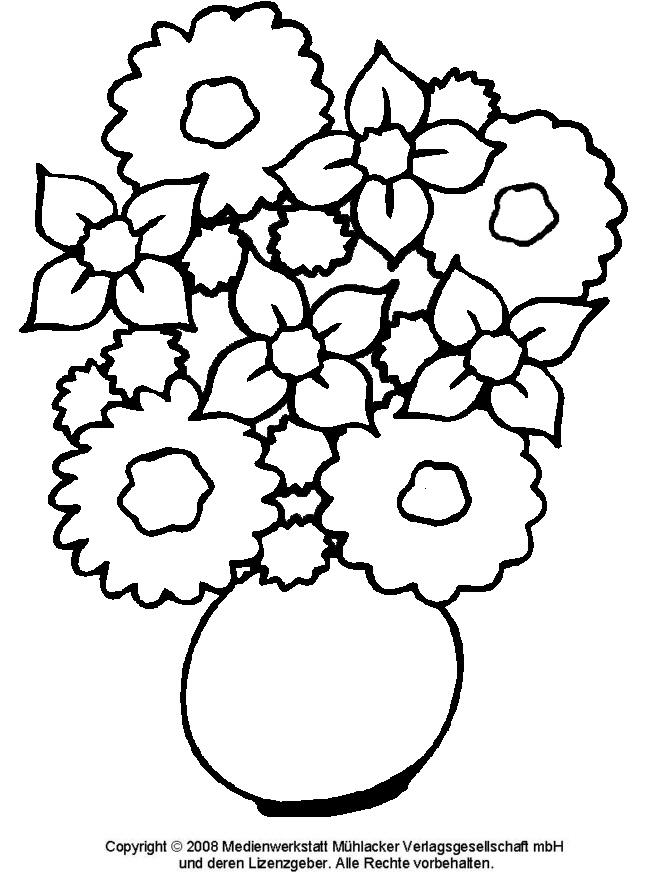 Ausmalbild - Blumenstrauß 1 - Medienwerkstatt-Wissen