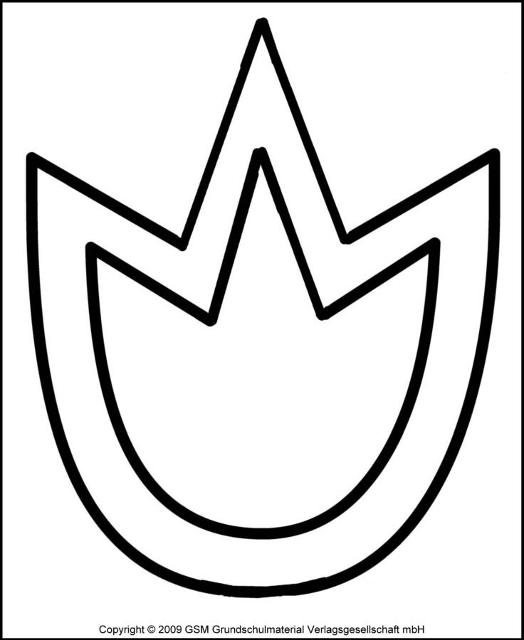 Tulpen-Fensterbild 1  Schablone - Medienwerkstatt-Wissen
