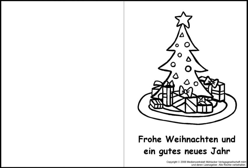 Weihnachtskarte zum Ausmalen 4 - Medienwerkstatt-Wissen