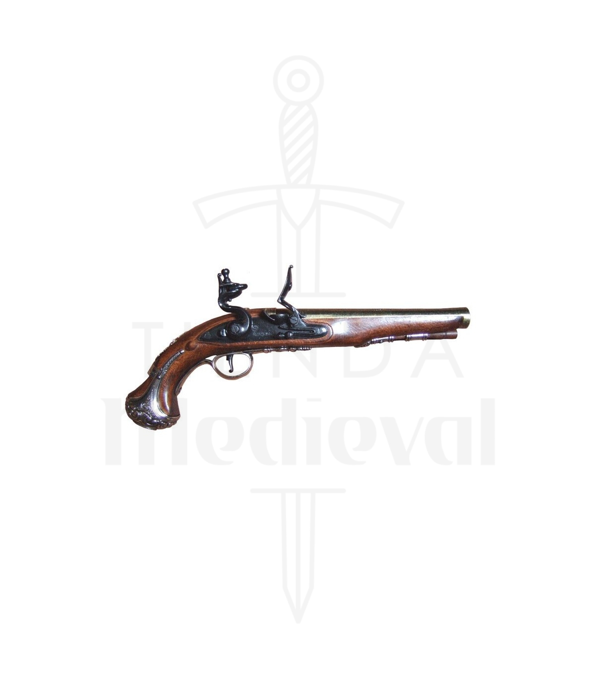 English Gun General Washington Xviii Century Flintlock