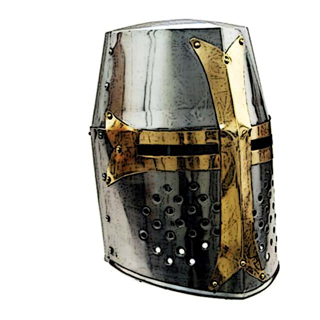 Knights Helmet In The Middle Ages