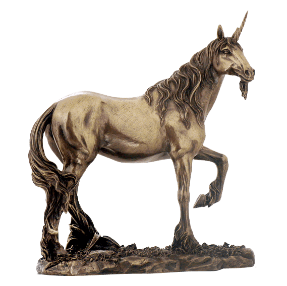 bearded unicorn statue