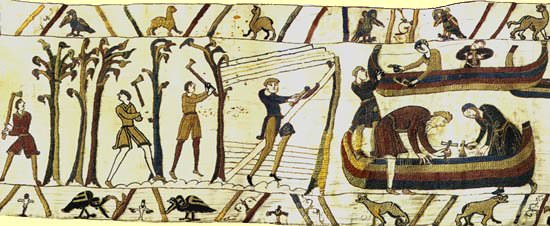 William's ships - The Bayeaux Tapestry