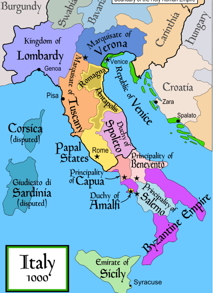 Italy in the year 1000