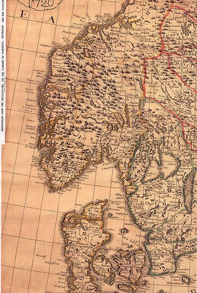 Map of Norway 1720
