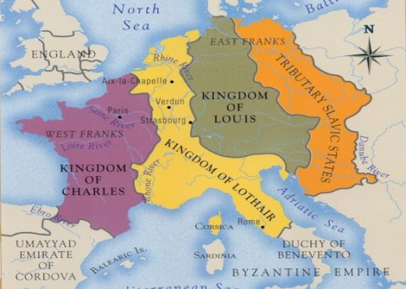 Carolingian Empire in 843