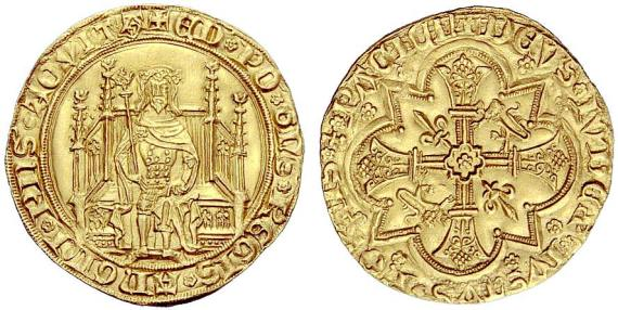 Coin of Edward the Black Prince - Photo by Chaponnière & Hess-Divo