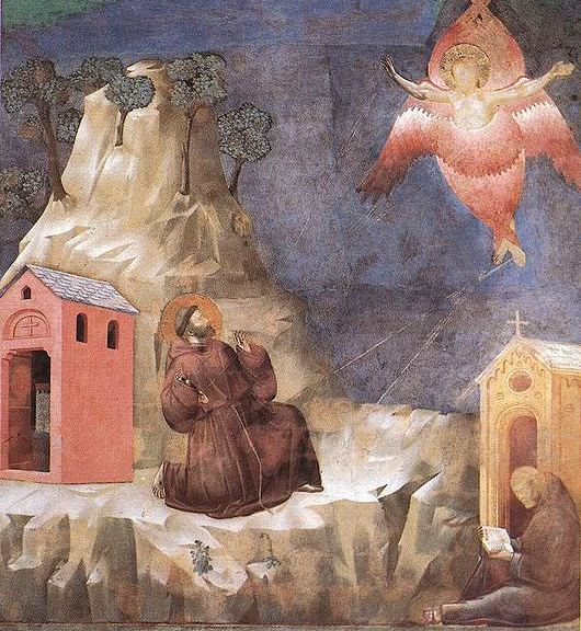 Giotto di Bondone (1267-1337), Basilique Assise, Legend of St Francis, Stigmatization of St Francis