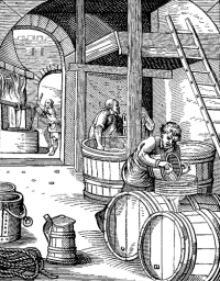 Depiction of 16th century brewers