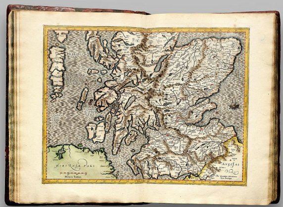 16th century map of Scotland