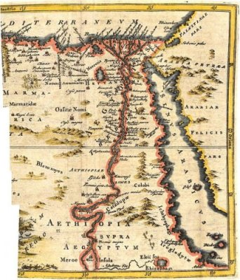 18th century map of Egypt