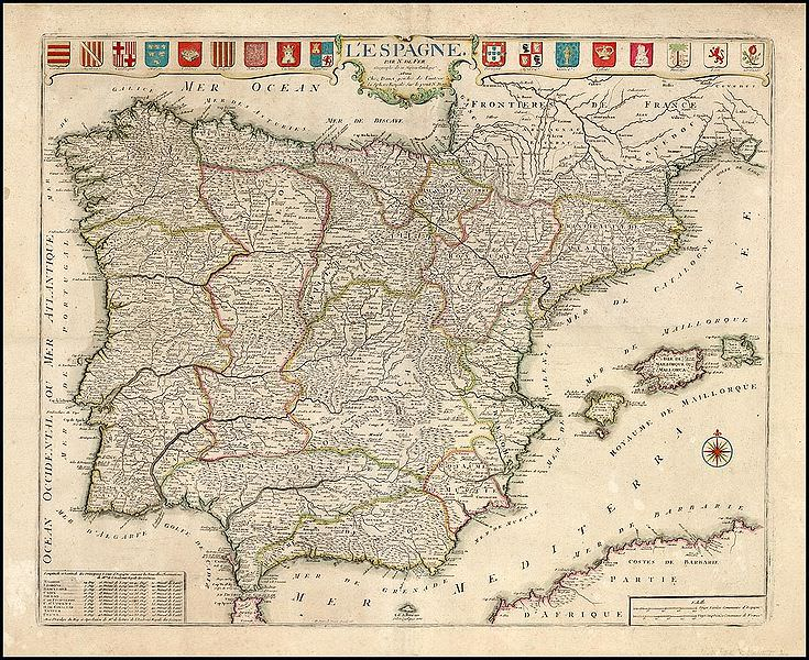 Map Of Spain From 1700 Medievalists Net