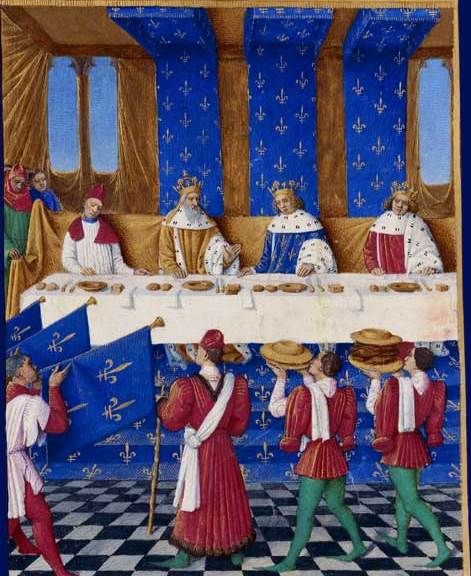 Medieval Food at Banquet