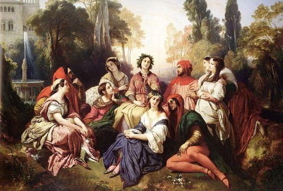 The Decameron - by Franz Xaver Winterhalter (1805–1873)