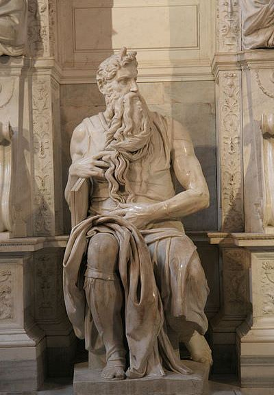 Michelangelo's Moses San Pietro in Vincoli - photo by Prasenberg