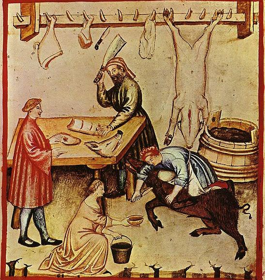 Medieval butcher