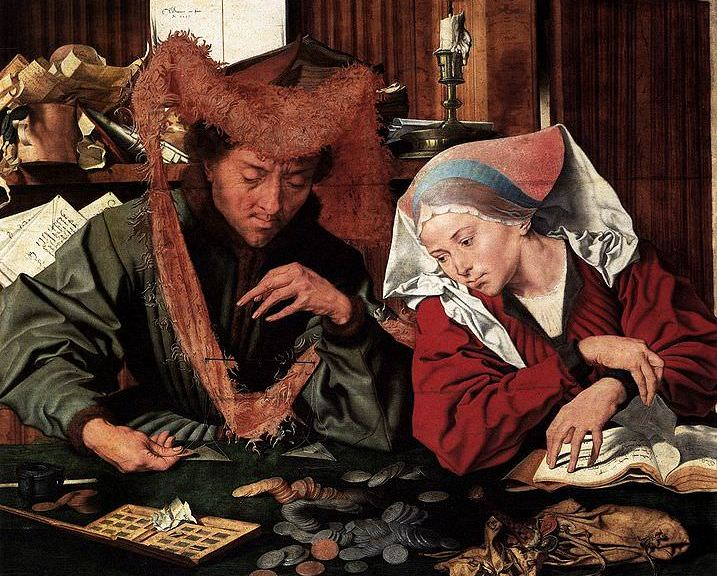 The Money Changer and his Wife (1490).