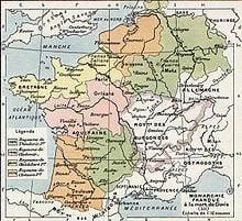 Map of Merovingian Gaul - 511 A.D.