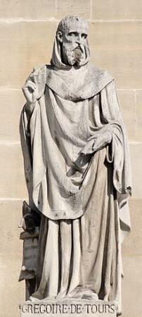 Gregory of Tours - statue
