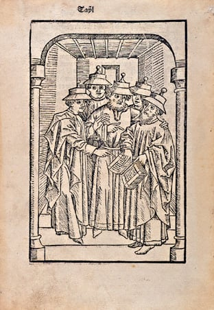 15th century depiction of Jewish men