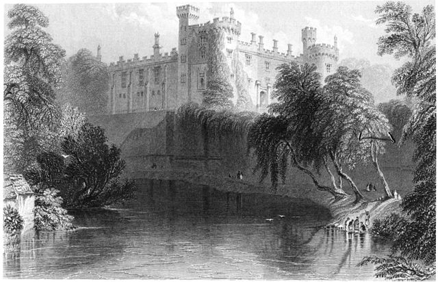 View from the river, 1841 by William Henry Bartlett