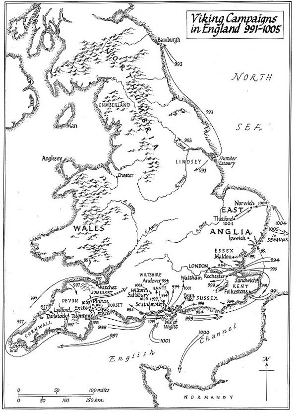 Map Of England 793 Ad.Maps Illustrating The Viking Invasions Of England Medievalists Net