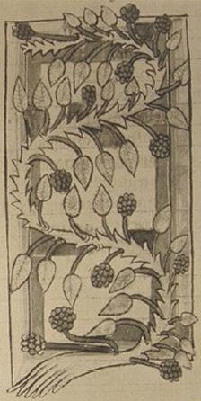 Saxon image of blackberry at the time of the Læchbook of Bald