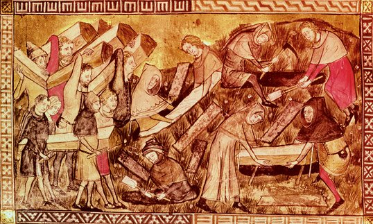 Burial of plague victims - The Black Death