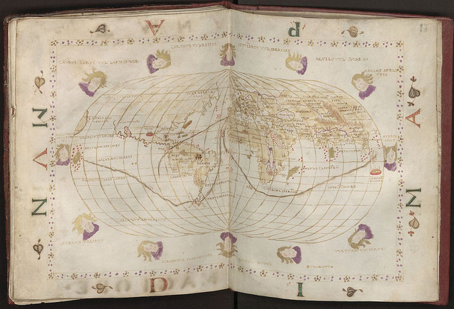 """Shown here is the """"Portolan Atlas,"""" a hand-drawn sailing map printed in Venice by famed cartographer Batissta Agnesy in 1540, part of the archives at the Wroclaw University Library. A solution consisting of IBM System x servers and Storage disk and SAN solutions to address the big data challenge of managing and providing fast search and retrieval services for up to 300 terabytes of information.  Photo courtesy of Wroclaw University Library, Poland"""