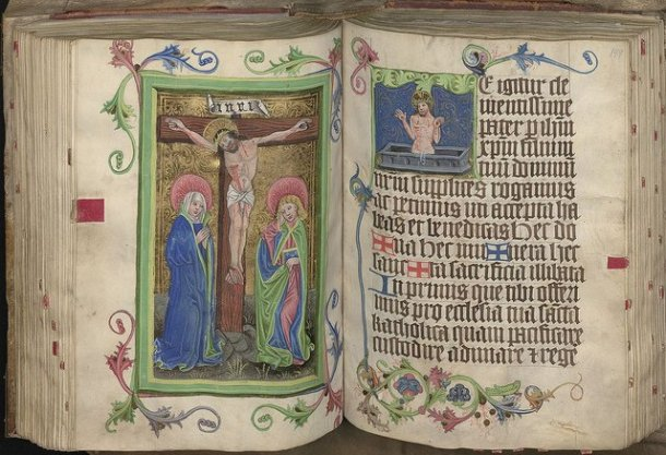 """Shown here is """"The Great Missal"""", from the Church of Mary Magdalene in Wroclaw, circa 1470, part of the Wroclaw University Library archives being digitized and made available online for the first time with IBM technology.  Photo courtesy of Wroclaw University Library, Poland"""