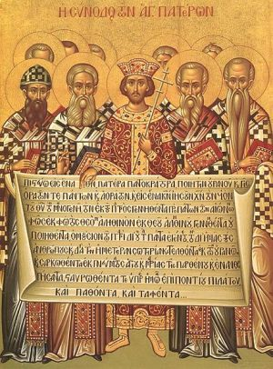 First  Council  of Nicaea - Emperor Constantine 381 AD