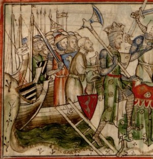 The landing of King Harald Hardrada near York...