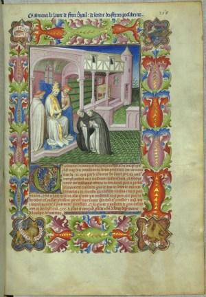 Pope Nicolas IV and Dominican monk Ricoldo of Montecroce