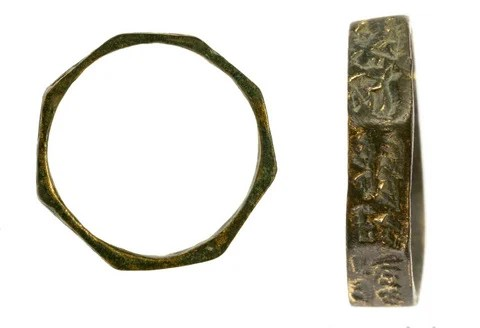 Bronze rings that were uncovered in the excavation. Photograph: Assaf Peretz, courtesy of the Israel Antiquities Authority