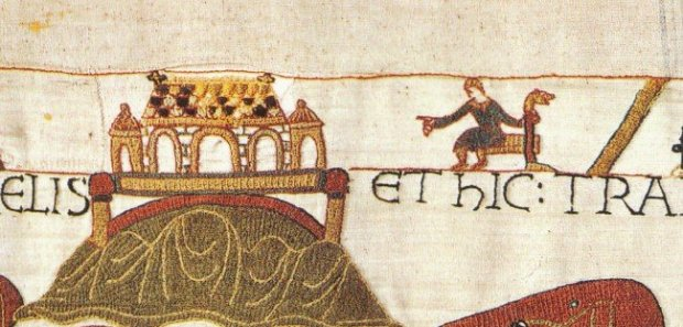 Abbot Scolland, designer of the Bayeux Tapestry
