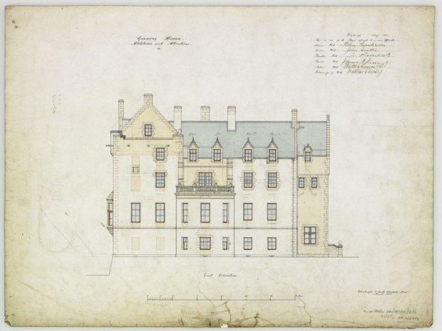 19th century design on Cavers Castle
