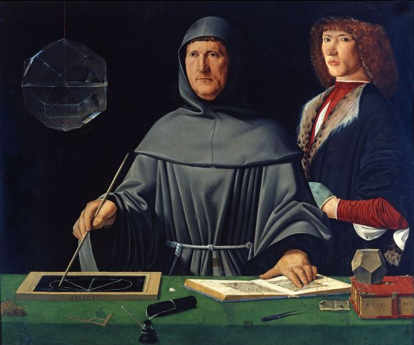 Portrait of Luca Pacioli, the father of accounting, attributed to Jacopo de' Barbari, 1495