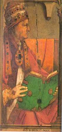 Pope Pius II (the humanist Aeneas Silvius Piccolomini), by Joos van Wassenhove