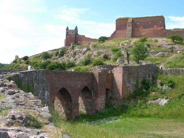 Archaeologists explore Hammershus Castle