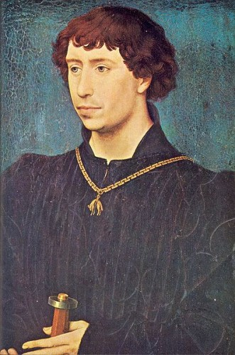 Rogier van der Weyden painted Charles the Bold as a young man in about 1460,